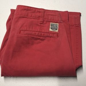 POLO JEANS Coral Red 30 x 30 Cotton Pants